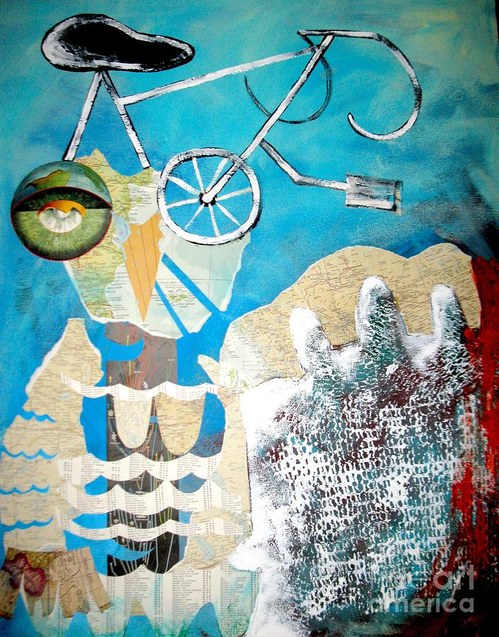 Owl Painting - Bike Owl by Amy Sorrell