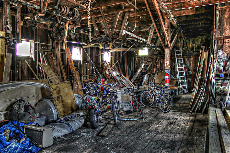 Fish House Photograph - Bikes In The Fish House by Lynn Jordan