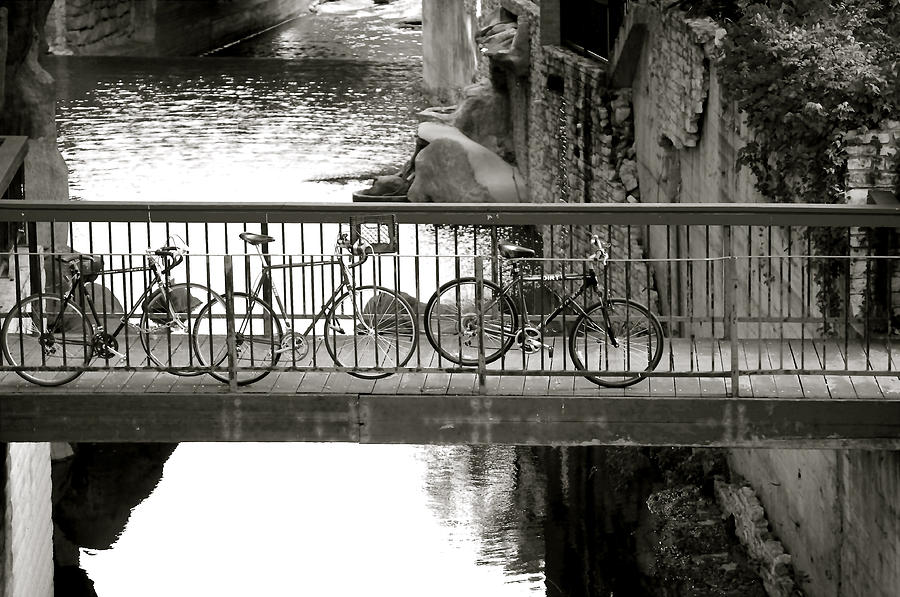 Bikes Over Waller Creek Photograph