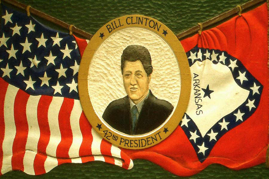 Bill Clinton 42nd American President Painting