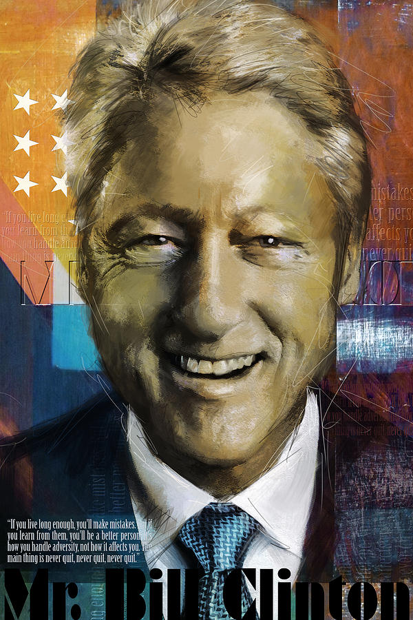Bill Clinton Painting - Bill Clinton by Corporate Art Task Force