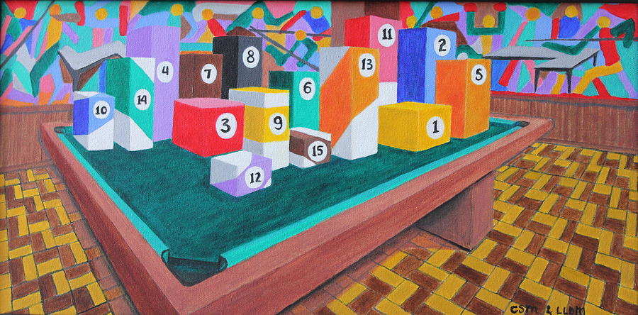 Billiard Table Painting  - Billiard Table Fine Art Print
