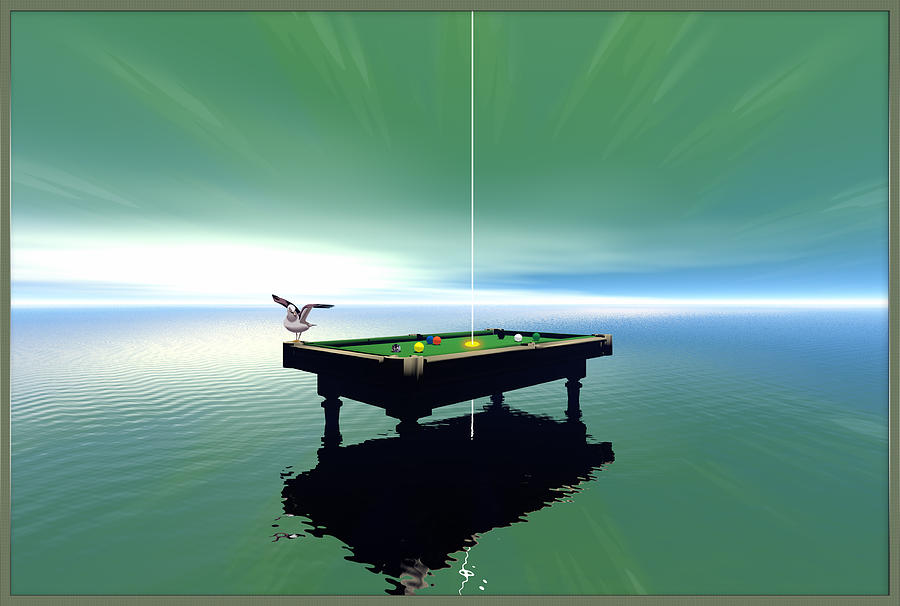 Billiard Table Digital Art