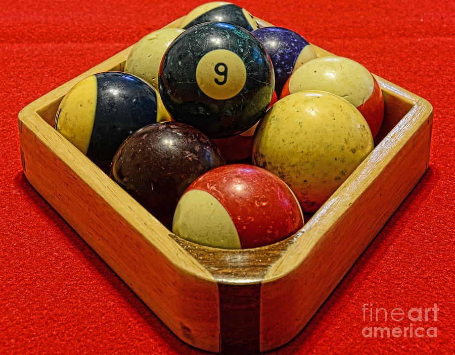 Billiards - 9 Ball - Pool Table - Nine Ball Photograph