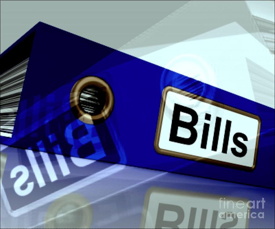 Bills Bills Bills Digital Art