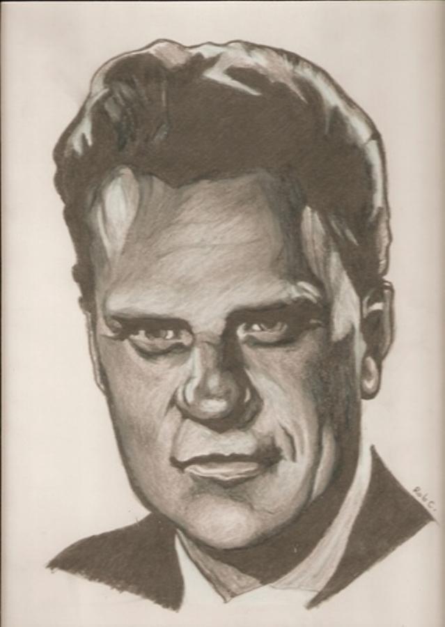 Billy Graham Drawing - Billy Graham Drawing by Robert Crandall