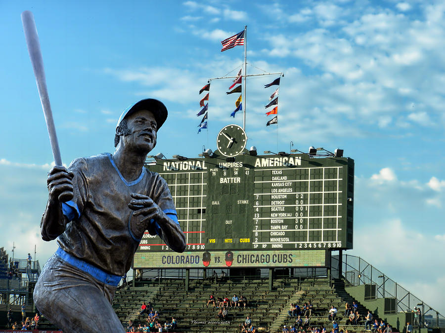 Billy Williams Chicago Cub Statue Photograph  - Billy Williams Chicago Cub Statue Fine Art Print