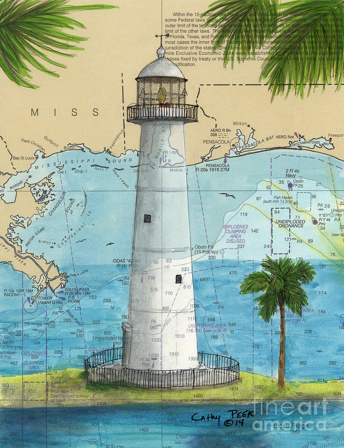 Framed Nautical Chart