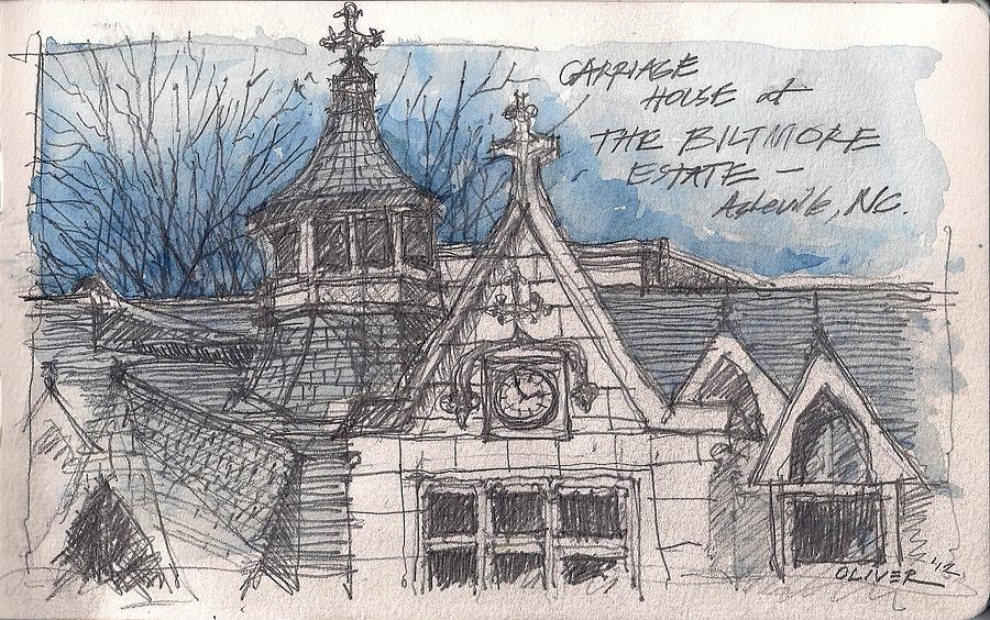 Biltmore Carriage House Mixed Media  - Biltmore Carriage House Fine Art Print