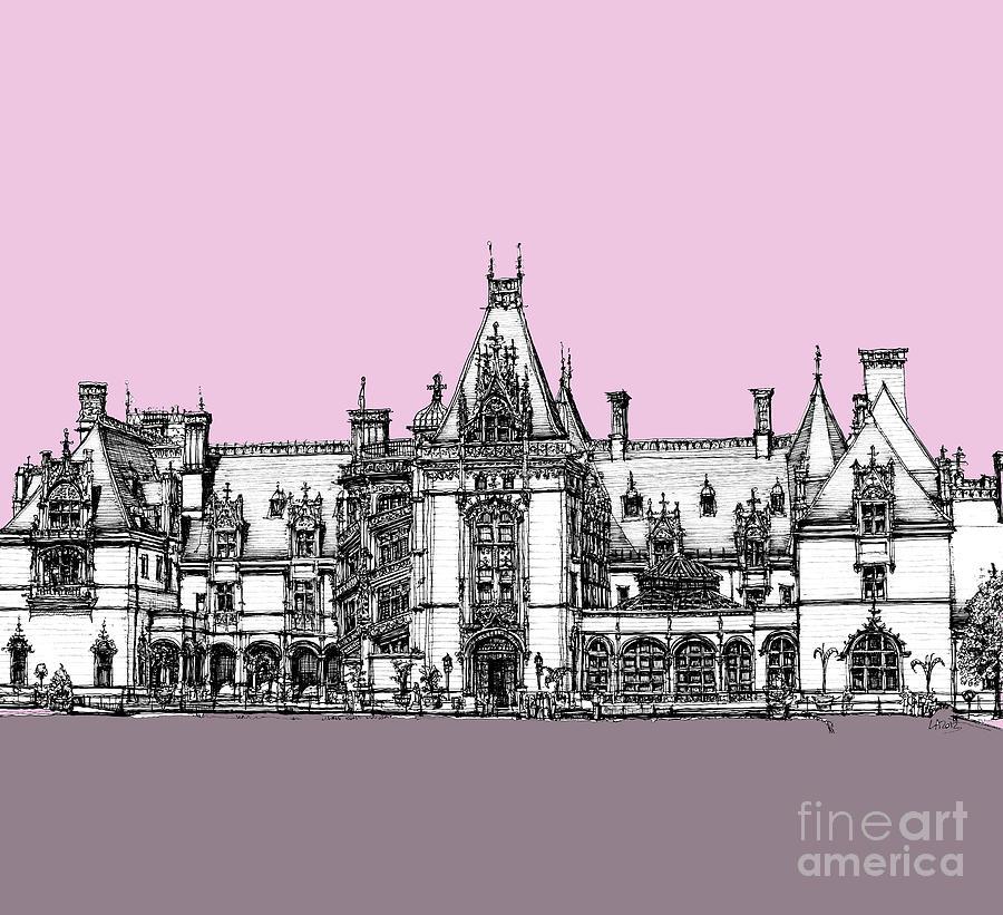 Biltmore Estate Pink And Lilac Drawing