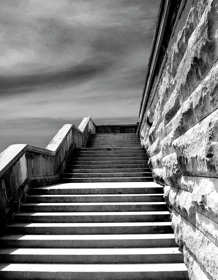 Asheville Photograph - Biltmore Stairs Asheville Nc by William Dey