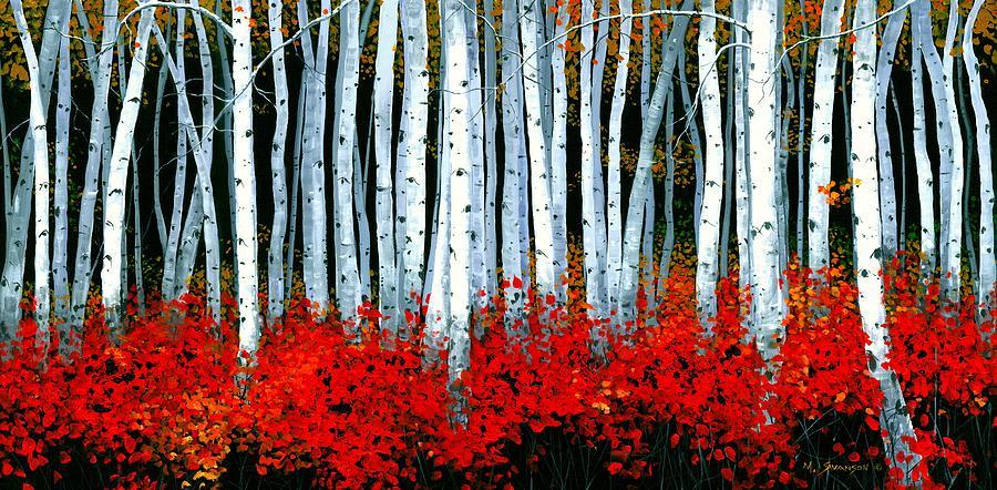 Birch Canvas Painting