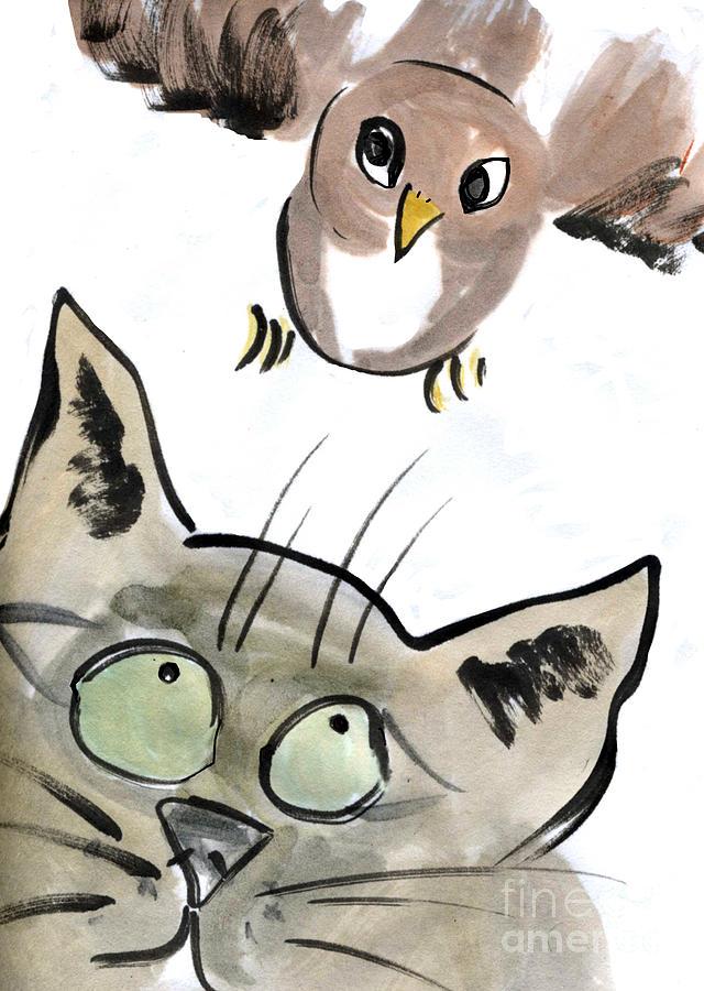 Bird Painting - Bird by Ellen Miffitt