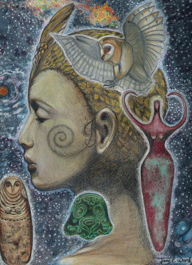 Bird Goddess Painting  - Bird Goddess Fine Art Print
