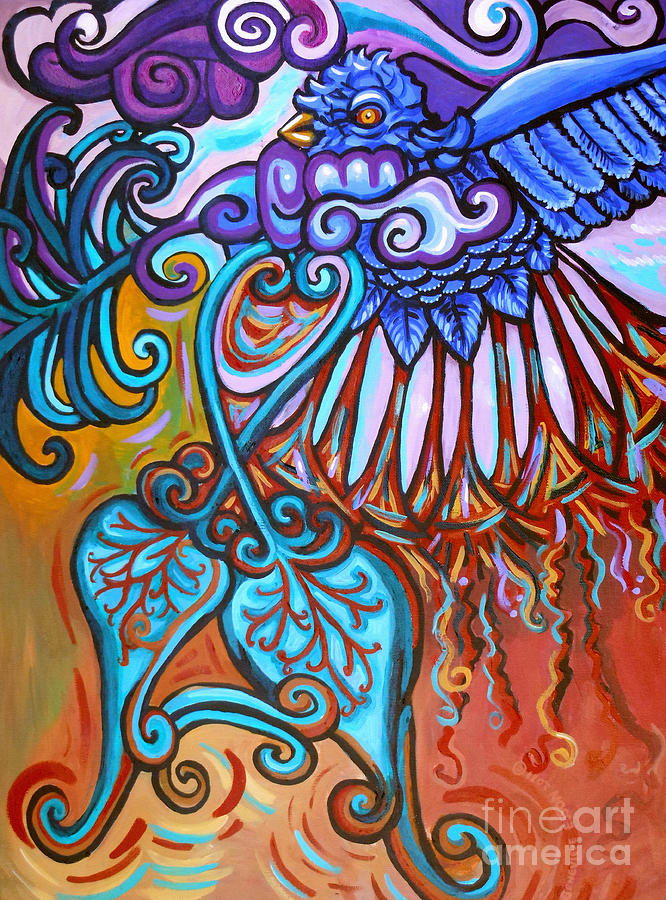 Bird Heart Iv Painting