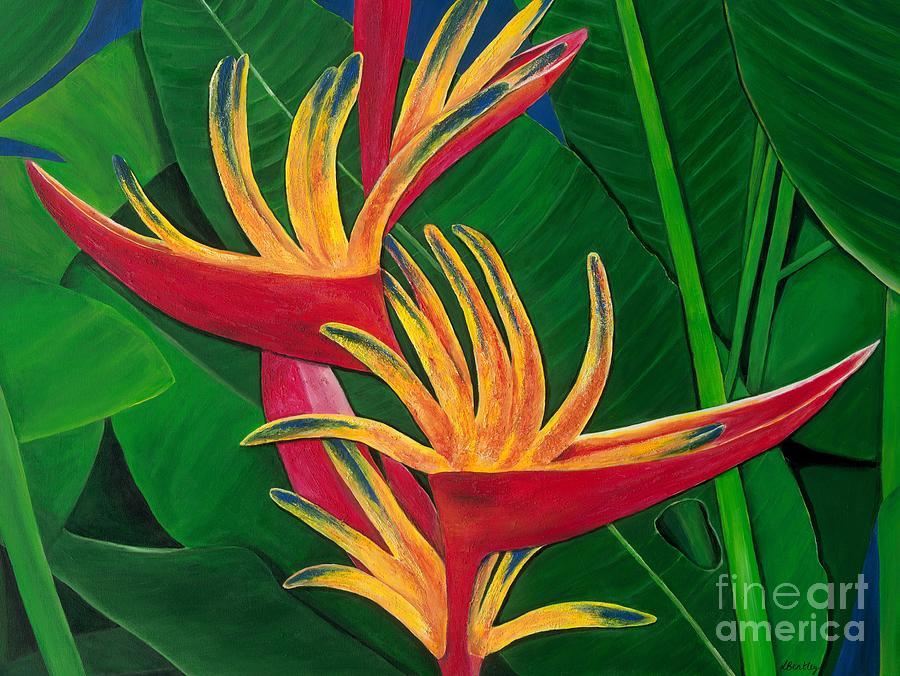 Bird Of Paradise Painting Painting