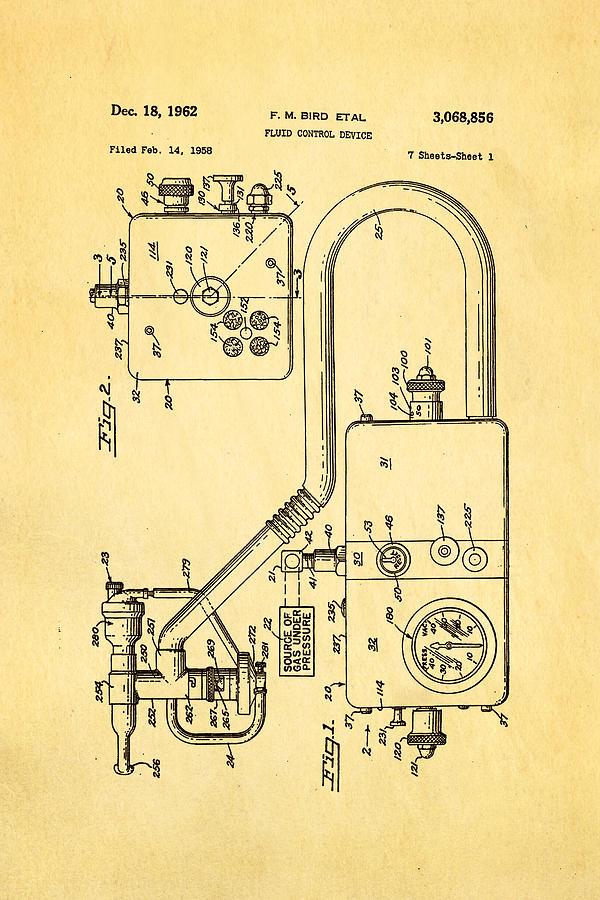 Bird Respirator Patent Art 1962 Photograph