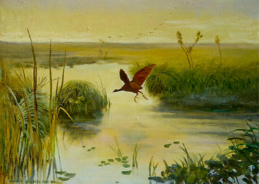 Bird Water Painting