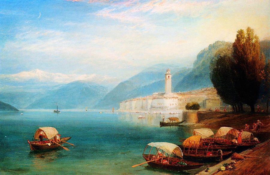Birket Foster Lake Como Painting