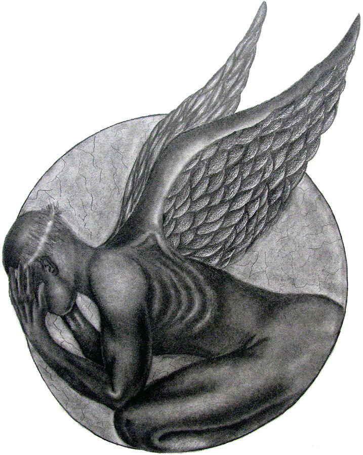Religious Drawing - Birth Of An Angel by Patrick Carrington