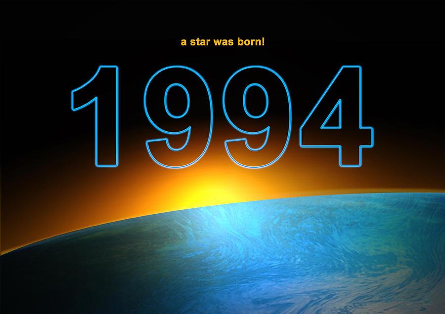 Birth Year 1994 Digital Art By Alexander Drum