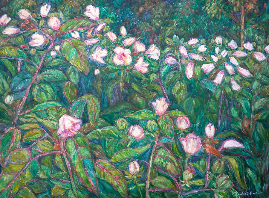Radford City Wildflower Paintings Painting - Bisset Park Hibiscus by Kendall Kessler
