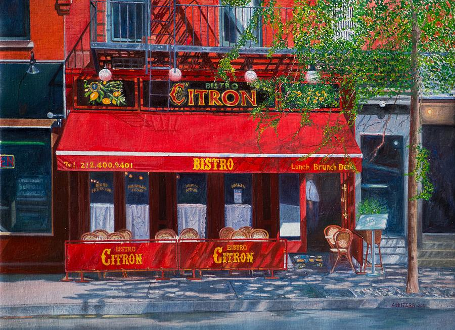 Bistro Citron New York City Painting  - Bistro Citron New York City Fine Art Print