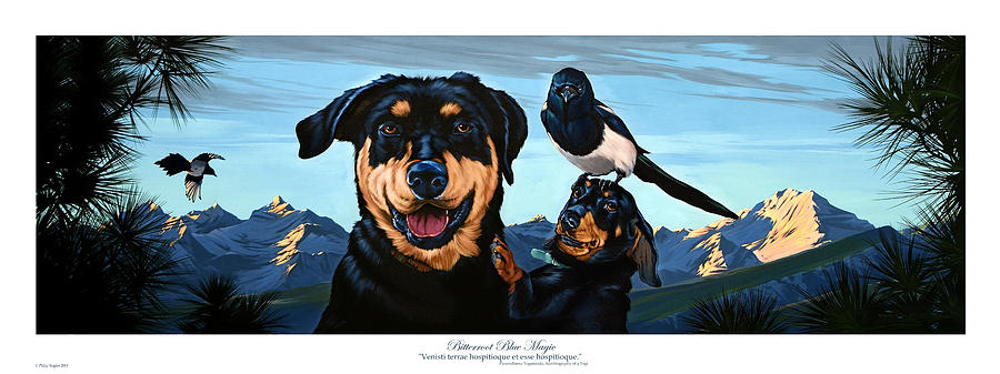 Dogs Painting - Bitterroot Blue Magic by Philip Slagter