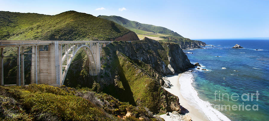Bixby Bridge Near Big Sur On Highway One In California Photograph  - Bixby Bridge Near Big Sur On Highway One In California Fine Art Print
