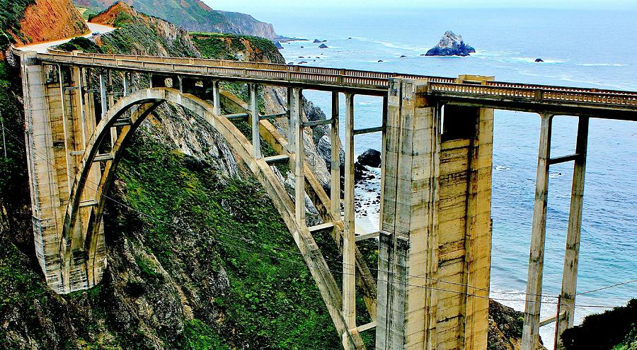Bixby Creek Bridge Panorama Photograph