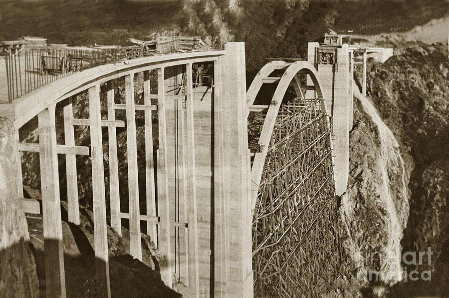 Bixby Creek Bridge Under Construction Big Sur Coast On