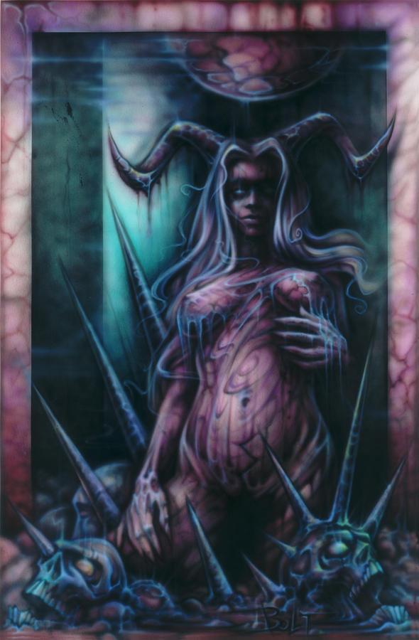 Fantasy Painting - Black Amber by David Bollt