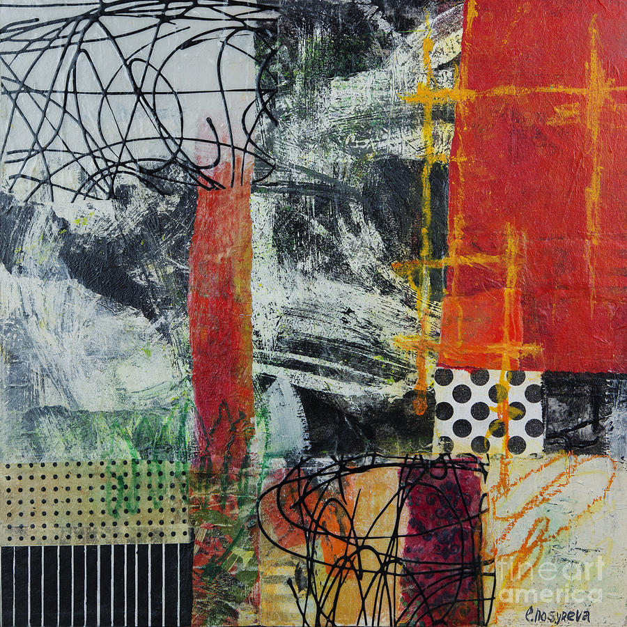 Black And Red 1 Mixed Media