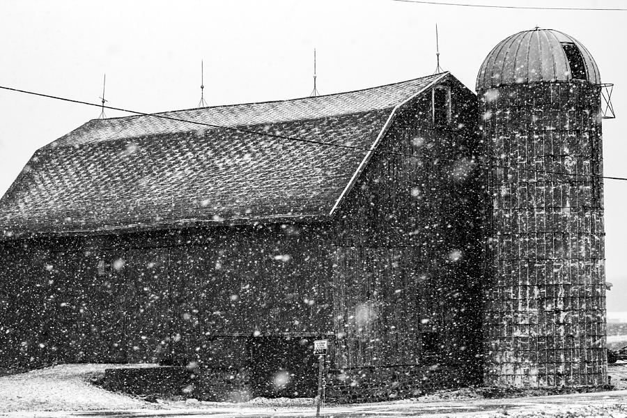 Black And White Barn Photograph