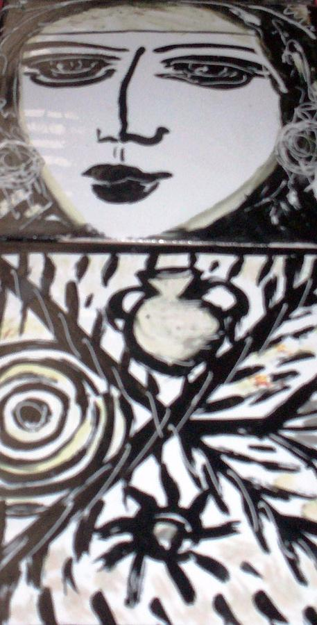 Black And White Ceramic Art