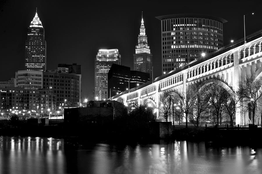 Black And White Cleveland Photograph
