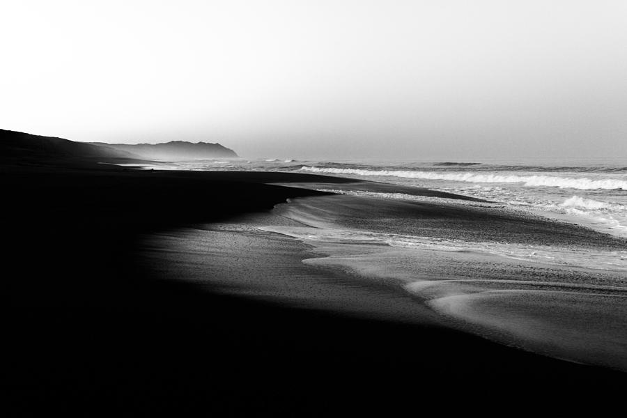 Black And White Sand Dunes By Shayne Skower Photograph