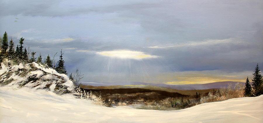 Ski Painting - Black Bear Ski Trail by Ken Ahlering