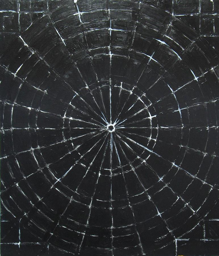 Black Black On Black Painting - Black Bulls Eye by Kazuya Akimoto