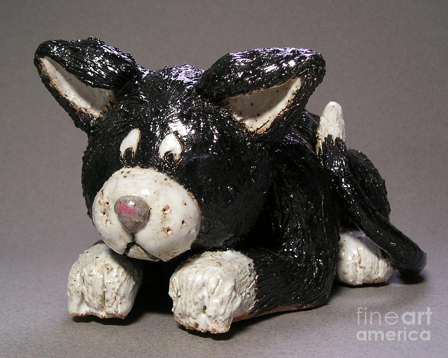Black Cat Sculpture