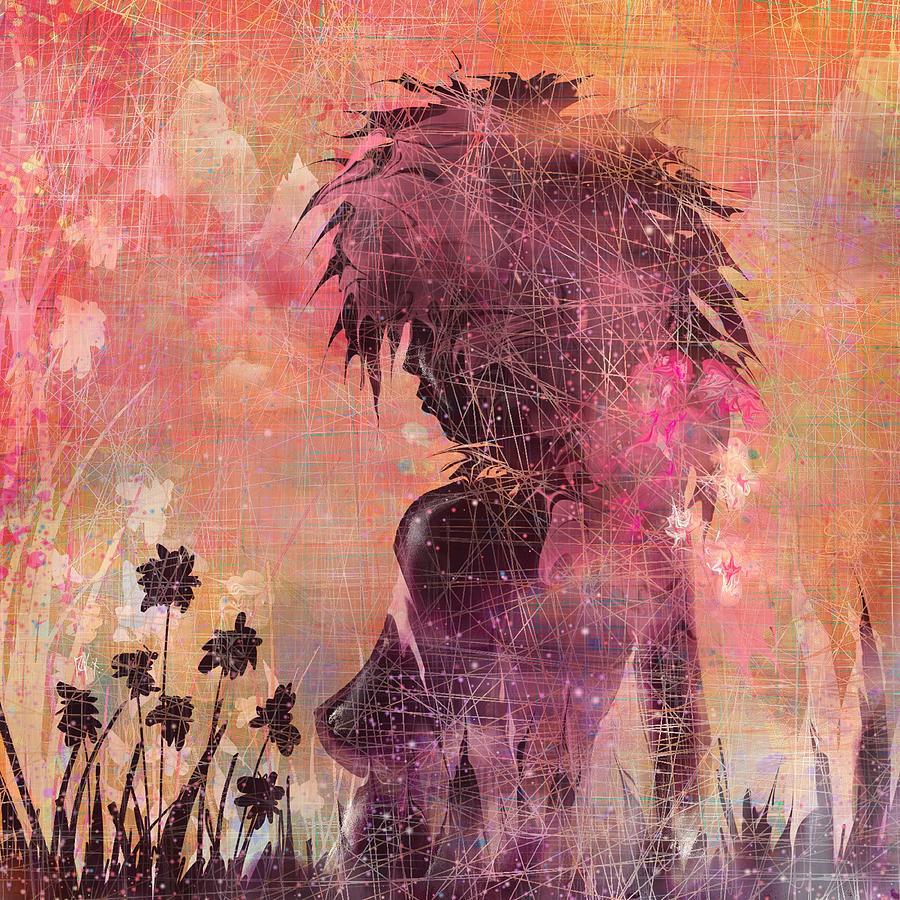 Black Flower Digital Art