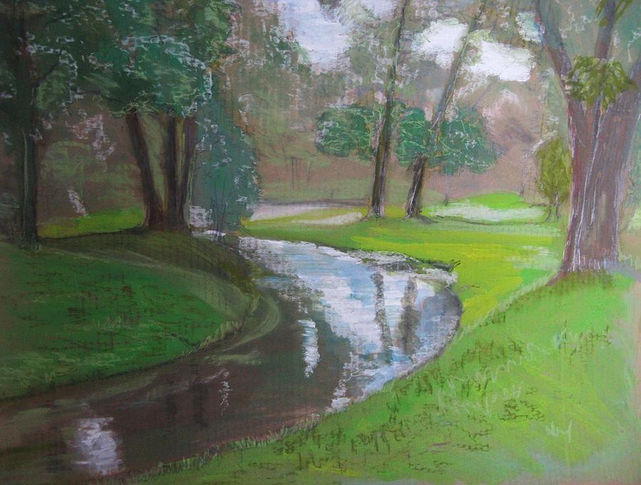 Black Hancza River Painting