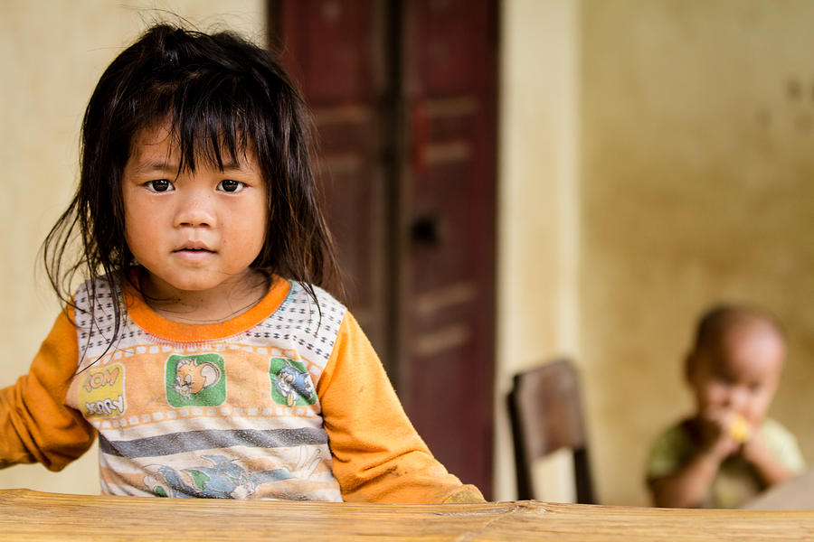 Black Hmong Child Photograph  - Black Hmong Child Fine Art Print