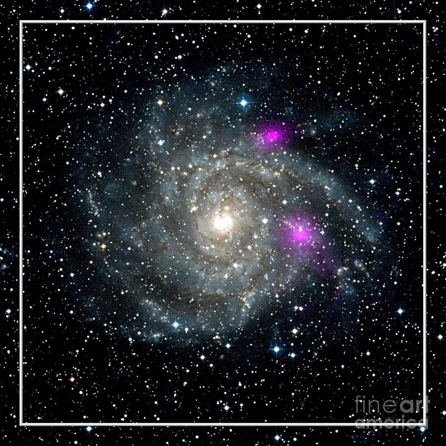 Black Holes In Spiral Galaxy Nasa Photograph