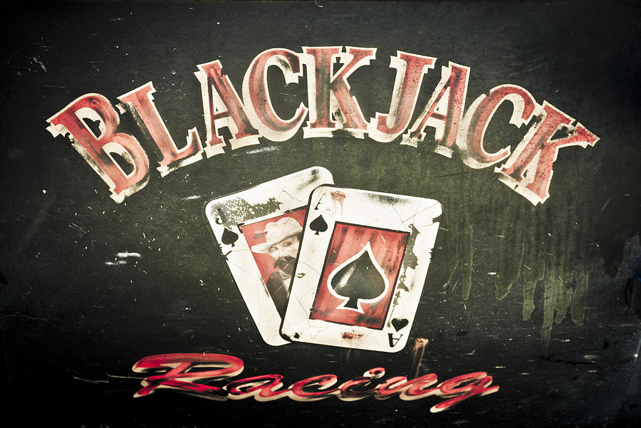 Custom Car Door Photograph - Black Jack Racing by Phil motography Clark