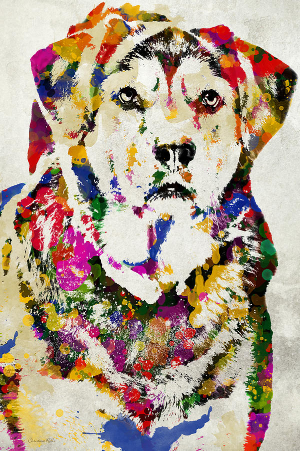 Black Lab Watercolor Art Digital Art