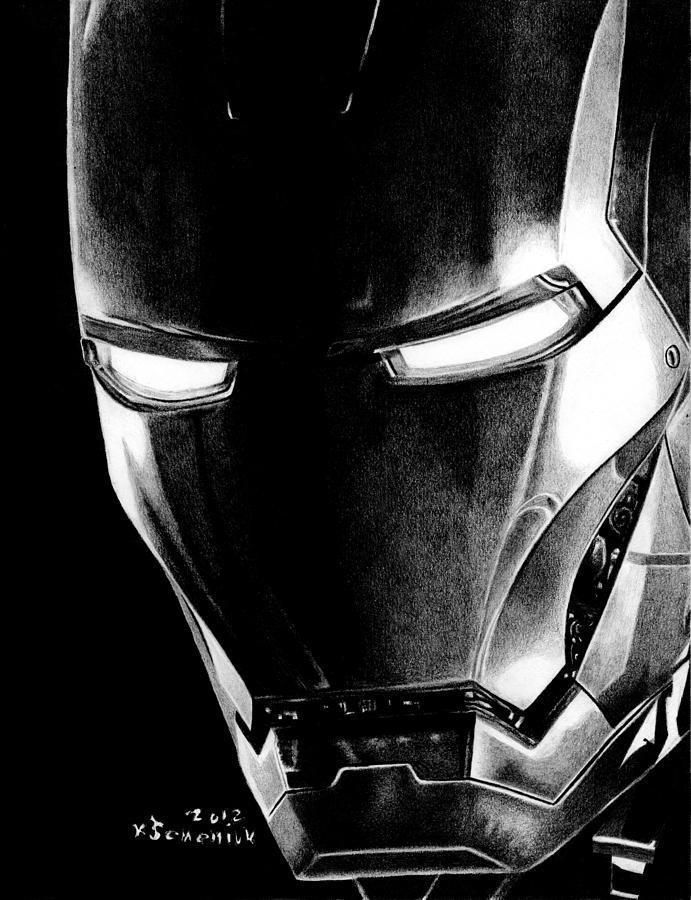 Black Led Avenger Drawing