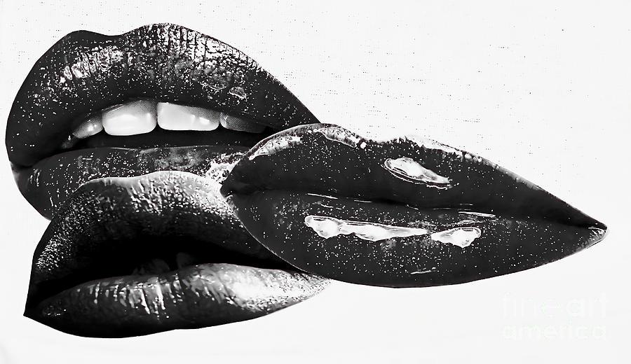 Black Lips Mixed Media