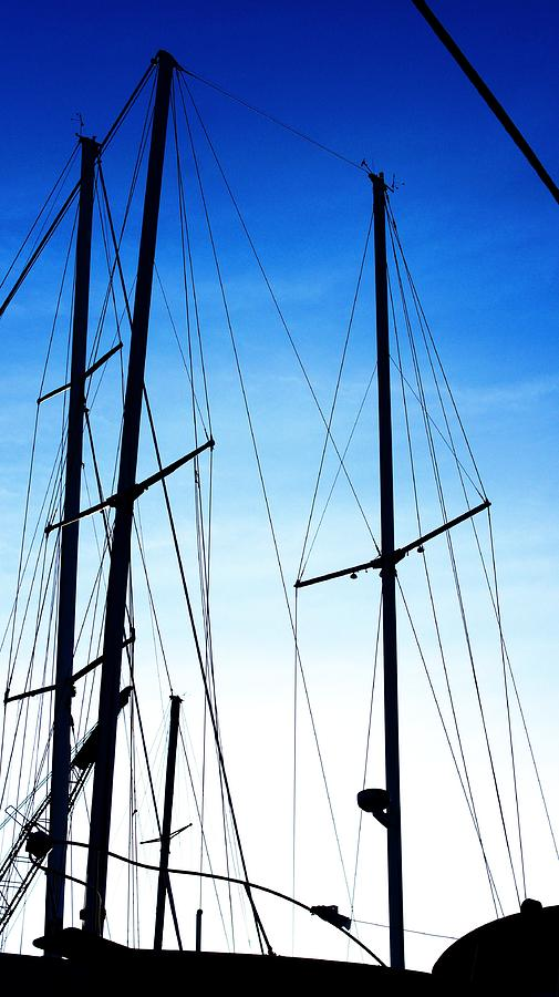 Black N Blue Hour Of Sailing Ships Photograph