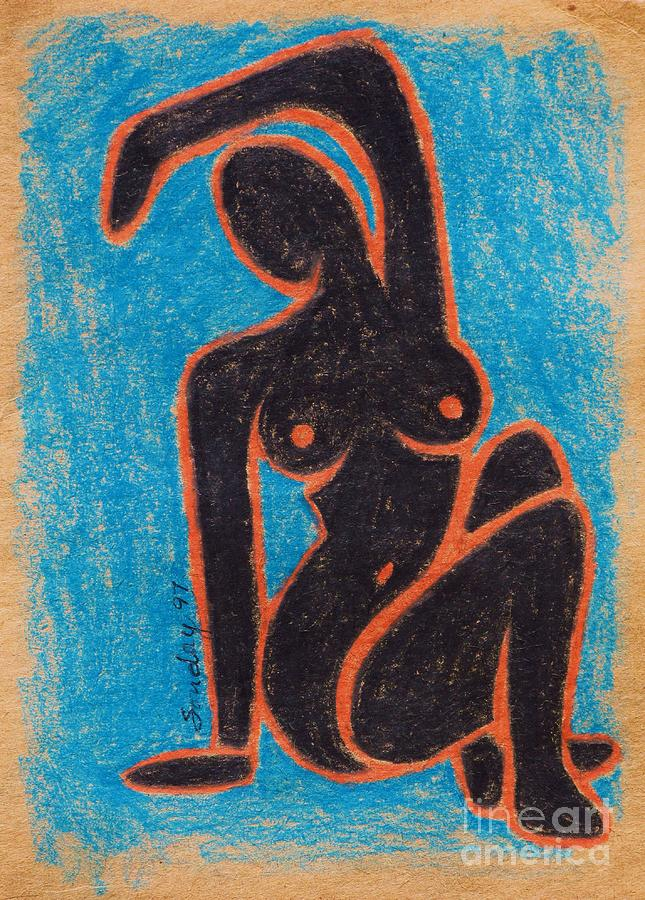 Female Nude Drawing - Black Nude by Joseph Sonday